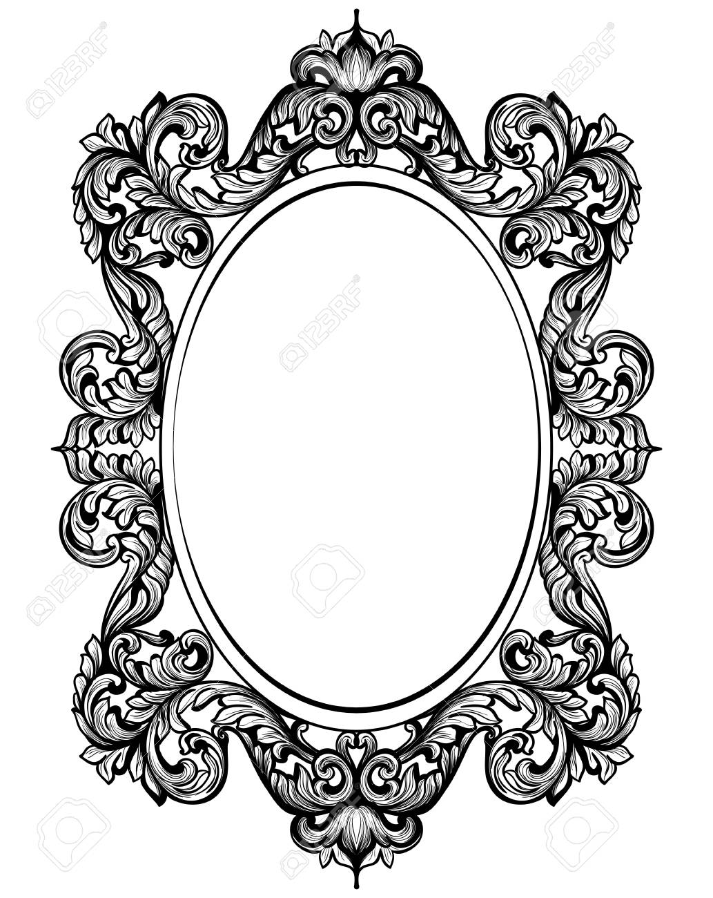 vintage baroque frame decor detailed rich ornament vector rh 123rf com ornament vector free ornamental vectors