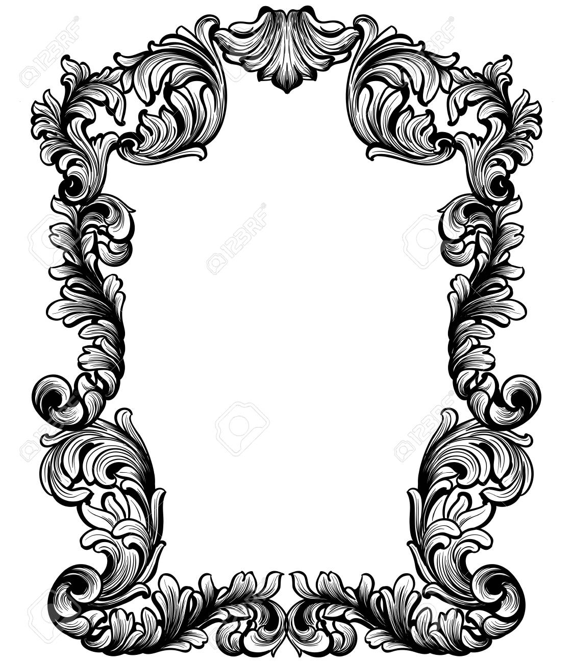 vintage baroque frame decor detailed ornament vector illustration rh 123rf com free ornament vector cdr free ornamental vector
