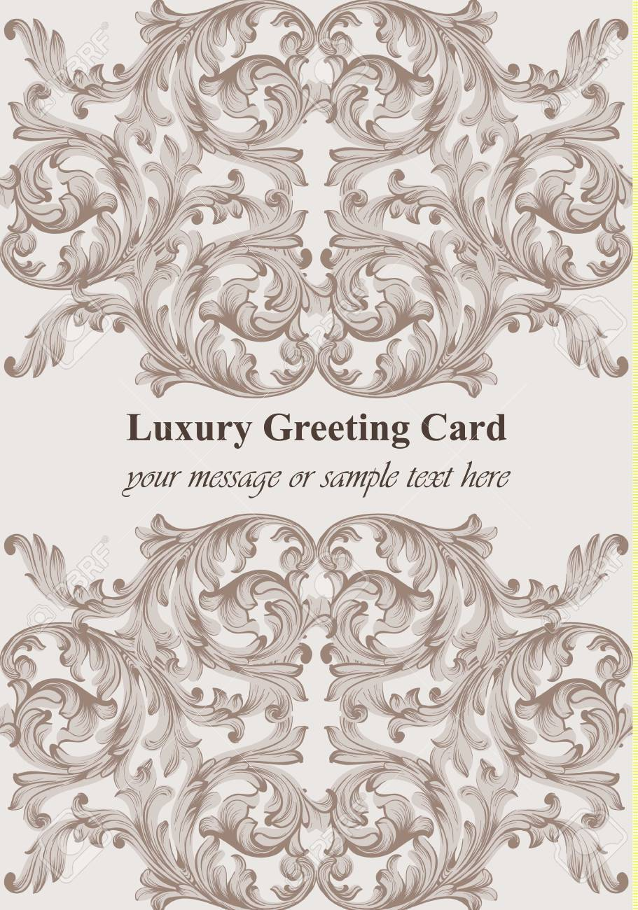 Baroque Card Decor For Invitation Wedding Greeting Cards Royalty