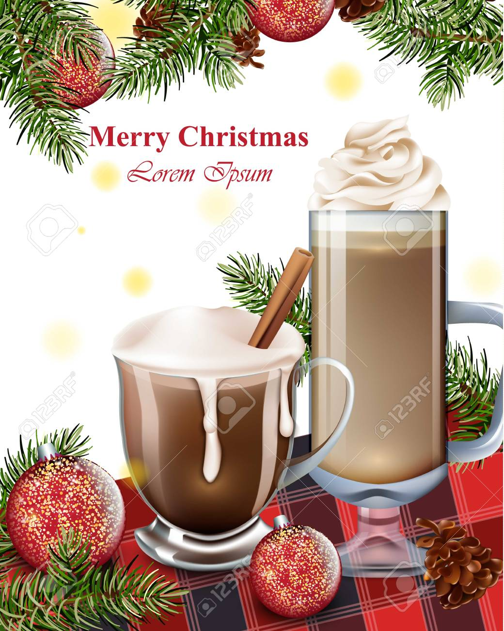Merry christmas card with hot chocolate drinks winter holiday merry christmas card with hot chocolate drinks winter holiday background stock vector 90318605 m4hsunfo