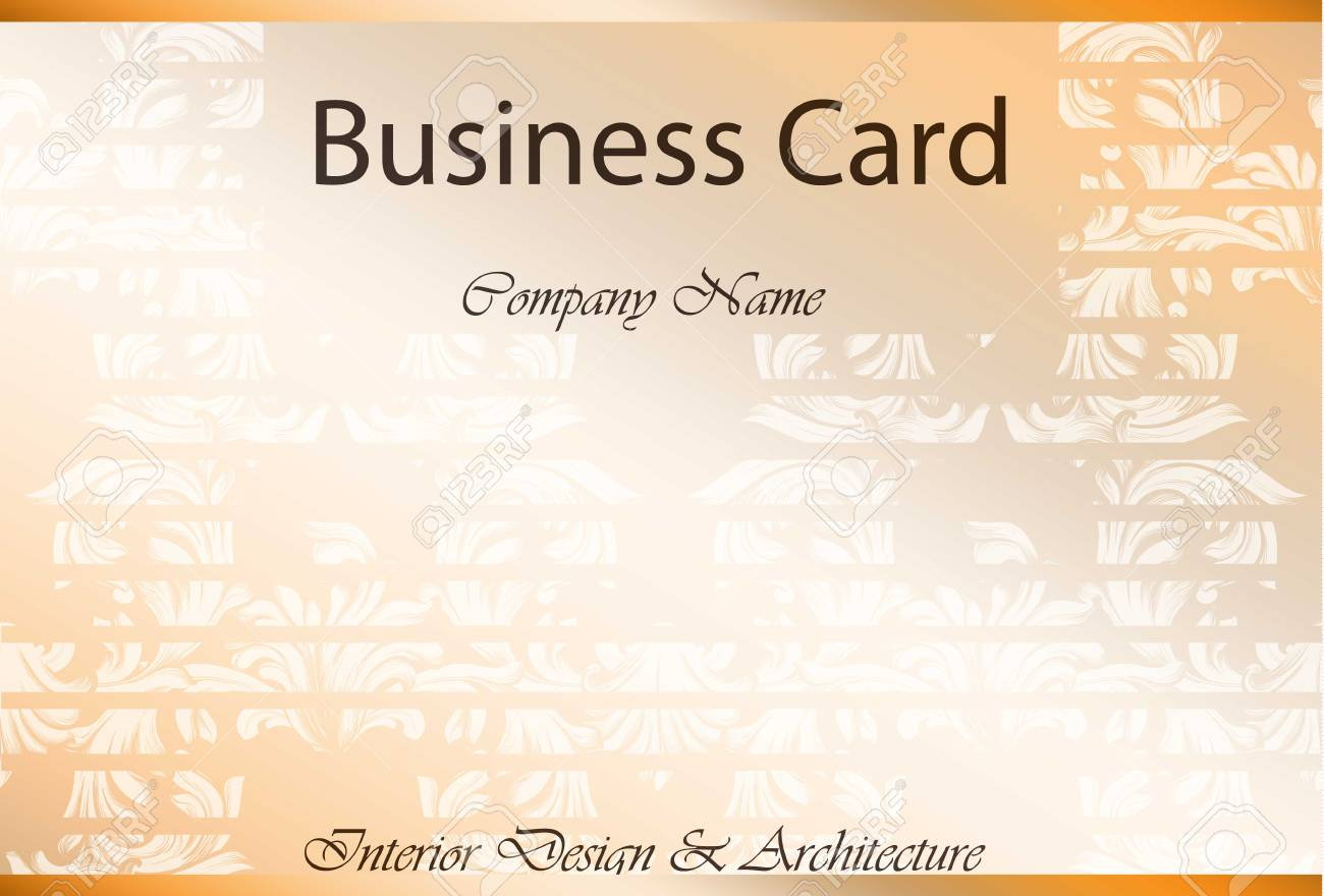 Business Card Interior Design And Architecture Classic Damask