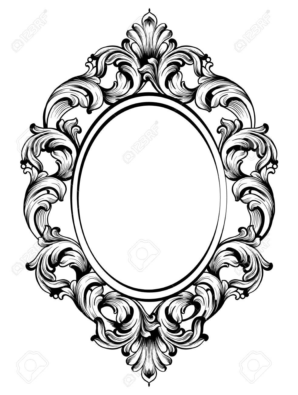baroque frame decor detailed rich ornament vector illustration rh 123rf com free ornament vector png free ornament vector art
