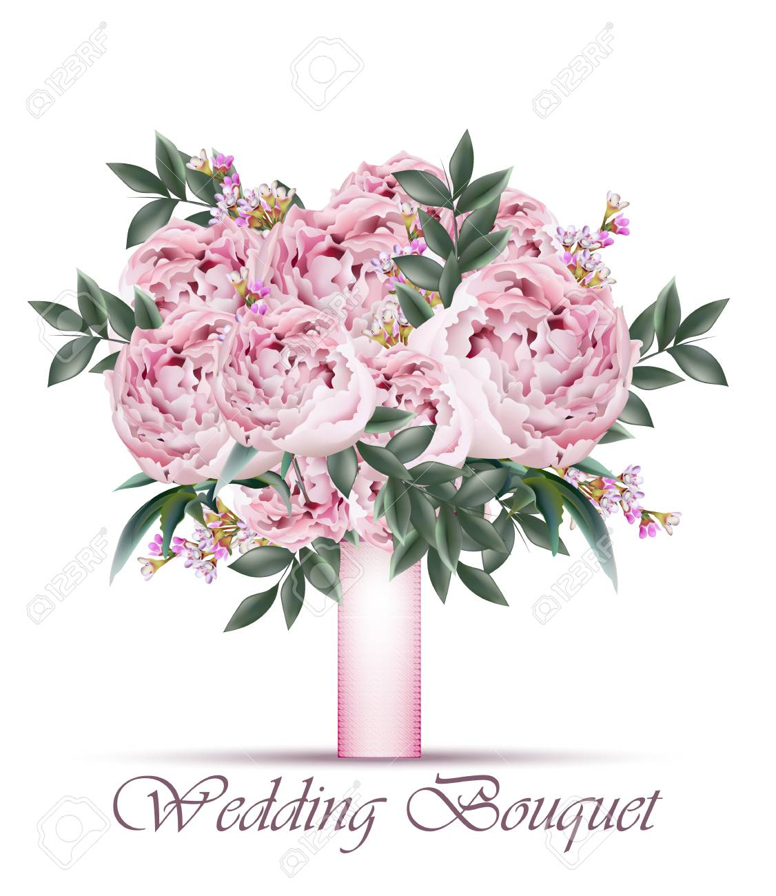 Peonies Wedding Bouquet Royalty Free Cliparts Vectors And Stock Illustration Image 100854078