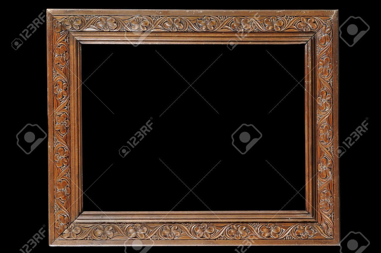 Antique carved wooden frame with flower pattern stock photo antique carved wooden frame with flower pattern stock photo 8956565 jeuxipadfo Image collections
