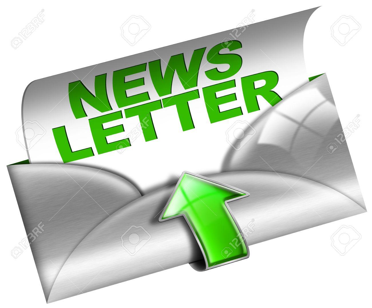 Newsletter marketing concept on white background Stock Photo - 13486844