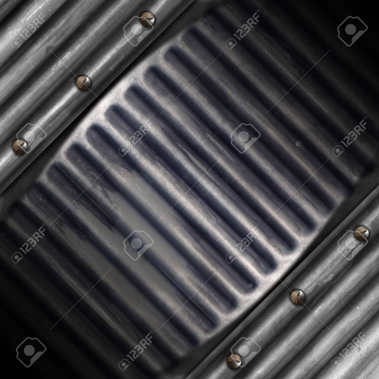 Grey and blue grunge background with screw heads Stock Photo - 15232032
