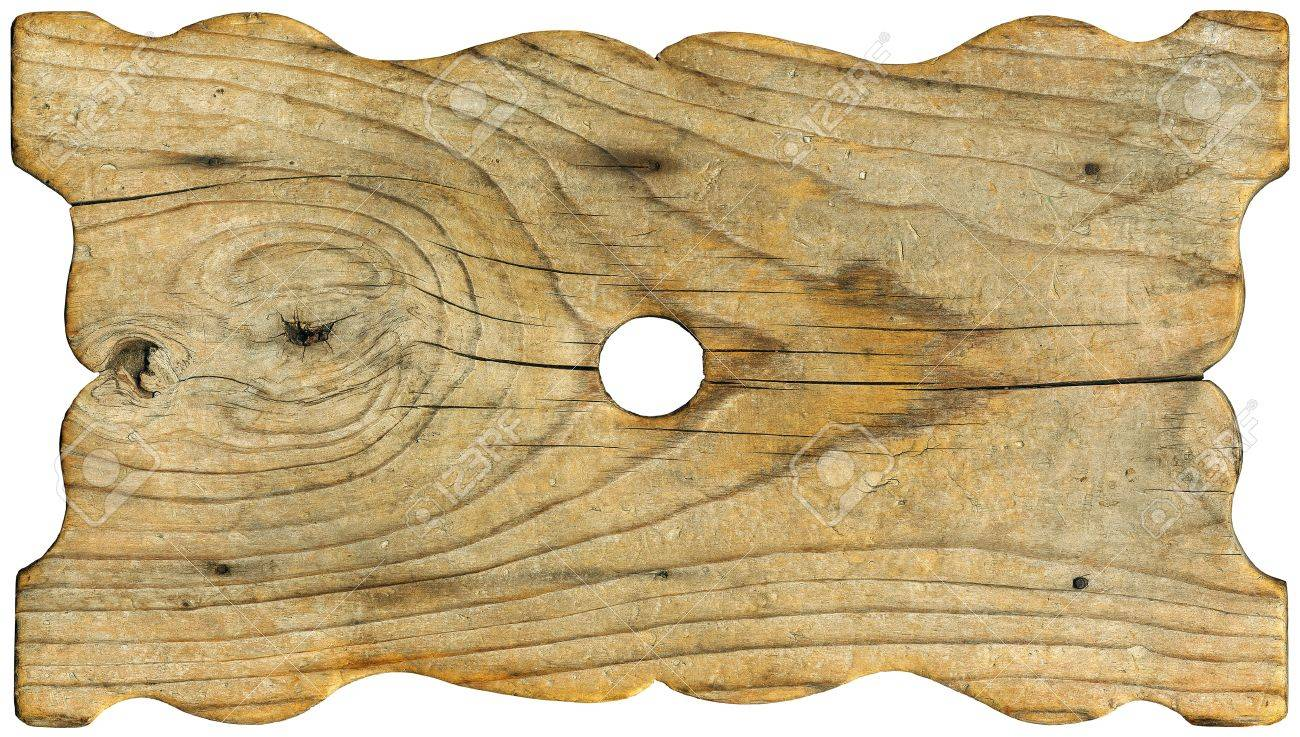 Horizontal old grunge wood board on white background Stock Photo - 15931074