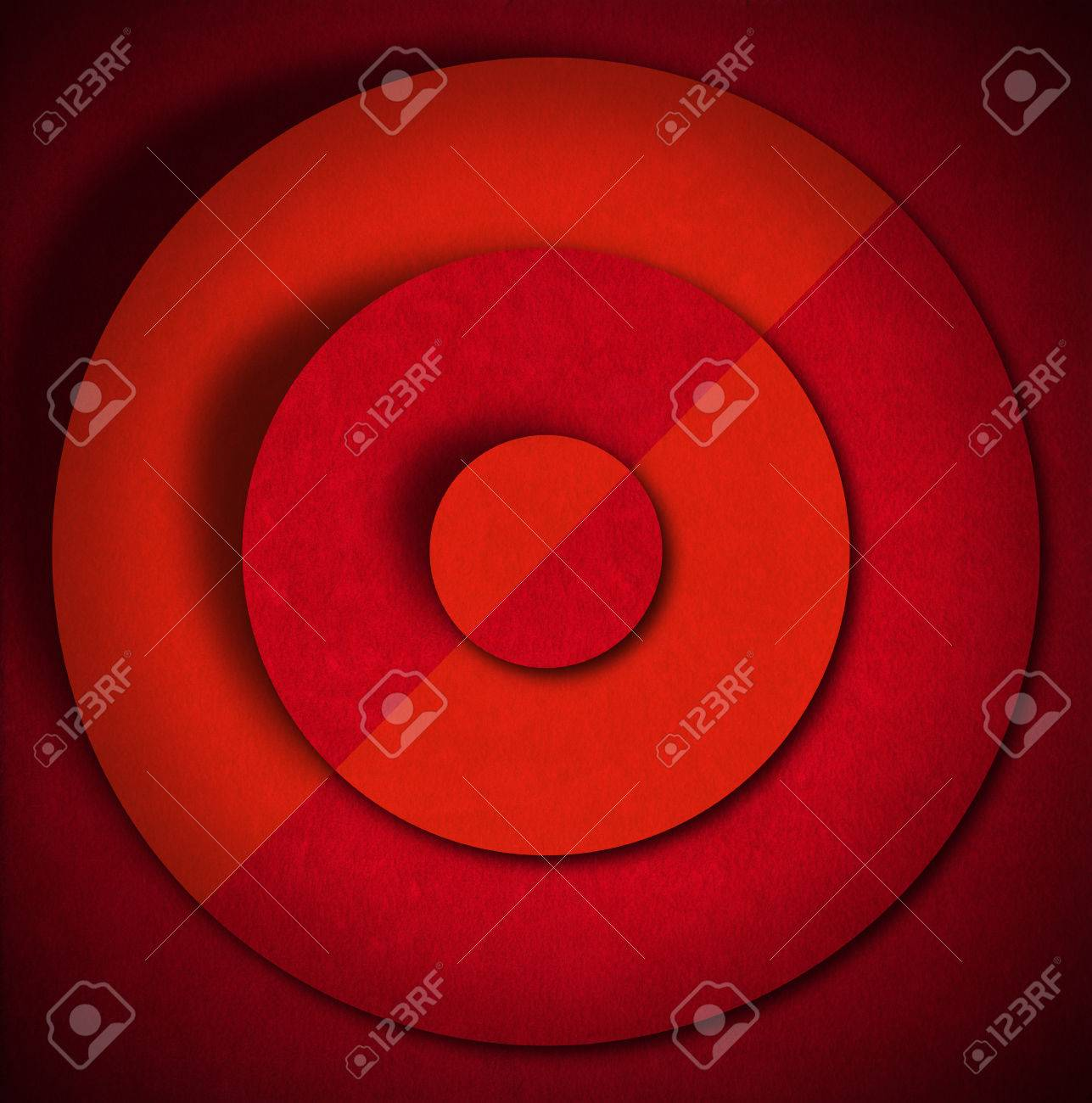 Aged red and orange velvet texture background with concentric circles and shadows Stock Photo - 24039919
