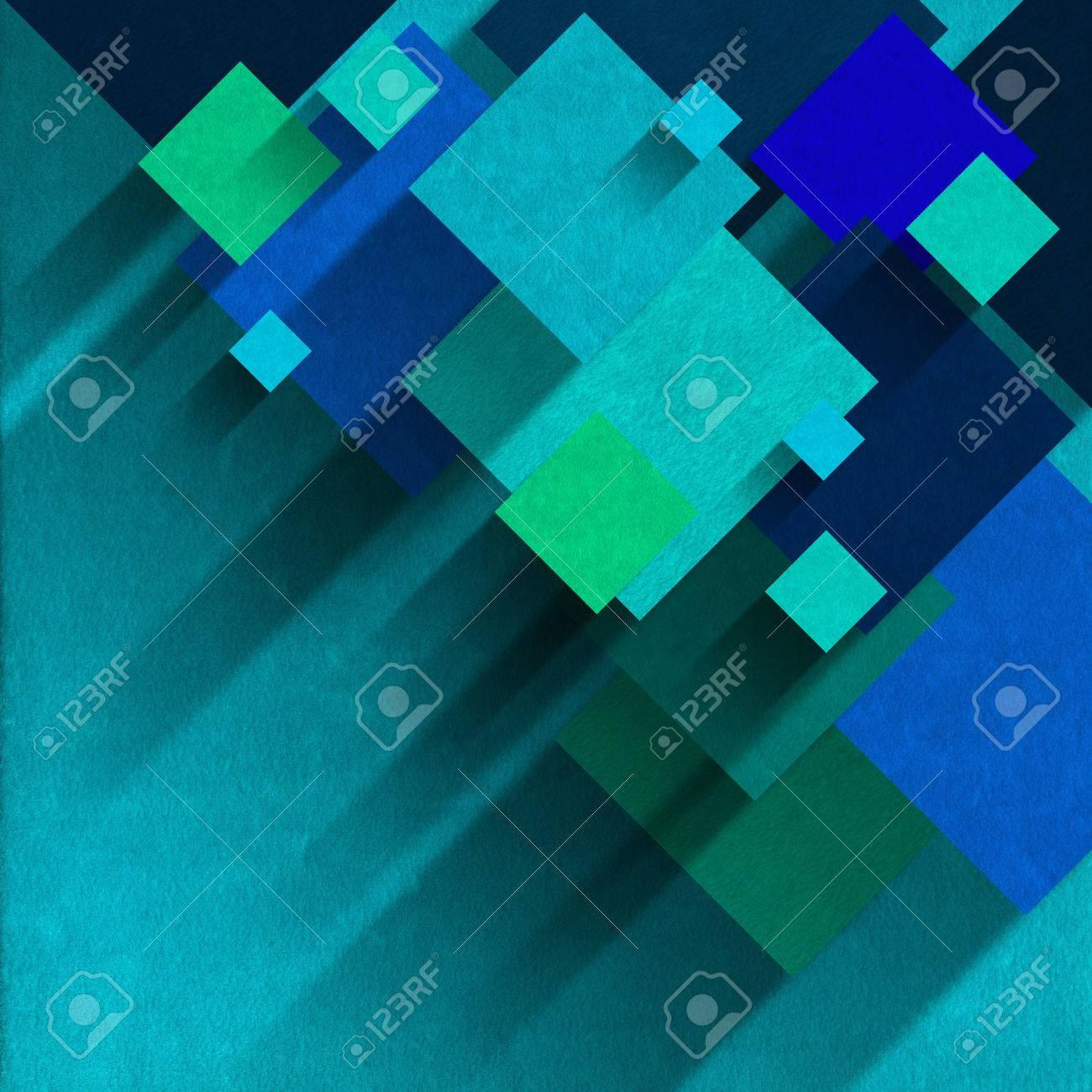 Piazze Di Velluto Blu E Verde Su Sfondo Di Velluto Azzurro Con Le Ombre