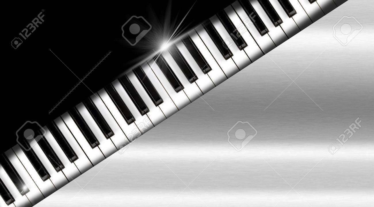 Clavier De Piano Sur Fond Noir Et Metal
