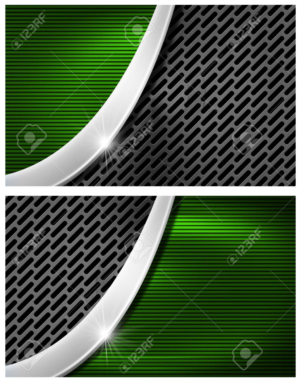 Green and black corrugated abstract background with dark grid green and black corrugated abstract background with dark grid and metal curve for business cards stock reheart Choice Image