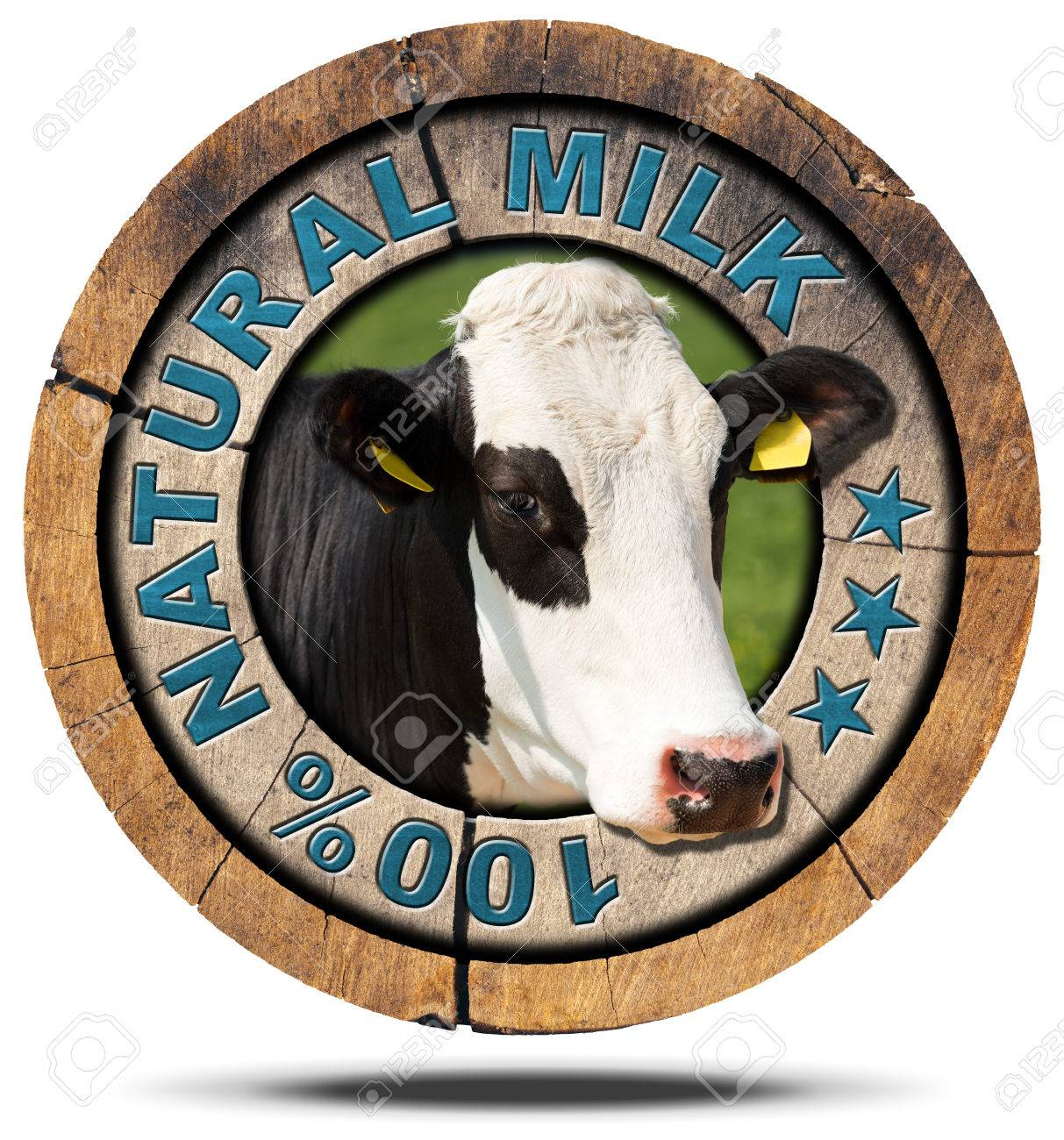Wooden round icon or symbol with head of cow and text 100 natural wooden round icon or symbol with head of cow and text 100 natural milk isolated buycottarizona Image collections