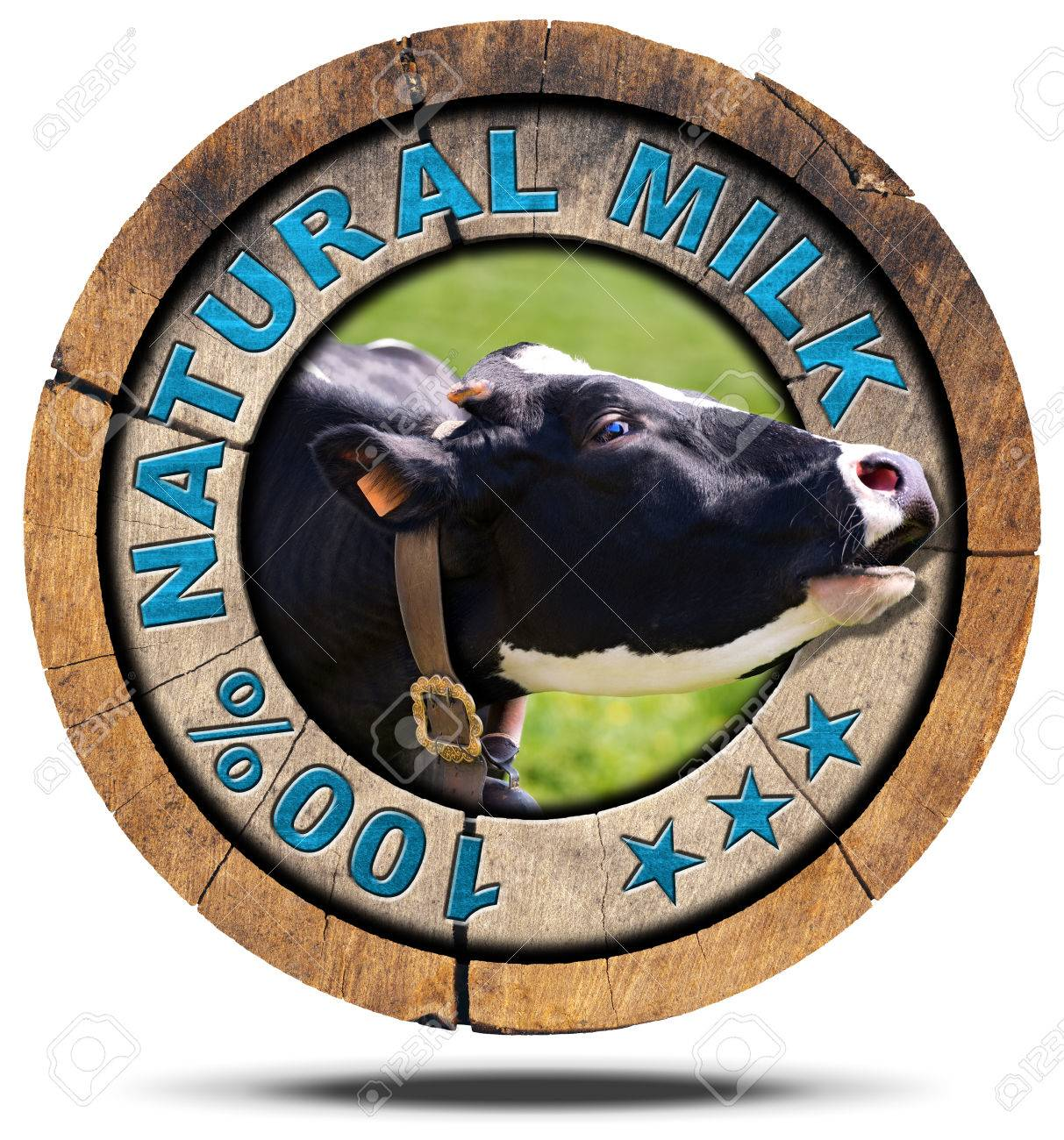 Wooden round icon or symbol with head of cow and text 100 wooden round icon or symbol with head of cow and text 100 natural milk buycottarizona