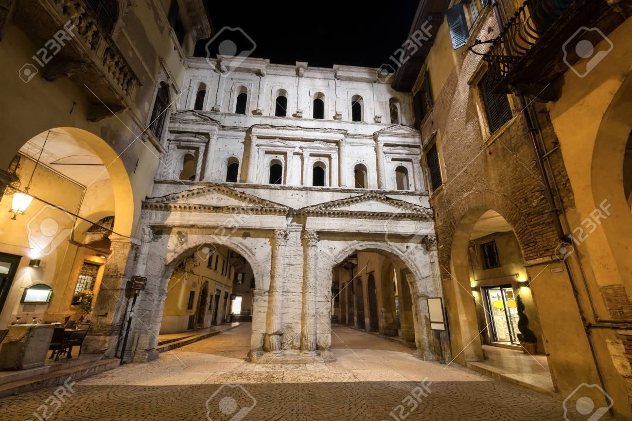 The ancient porta borsari roman gate 1st century ad verona stock photo the ancient porta borsari roman gate 1st century ad verona veneto italy europe publicscrutiny Images