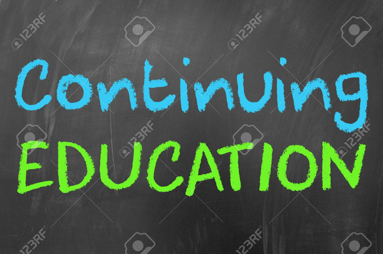 Continuing education concept on blackboard - 35133323