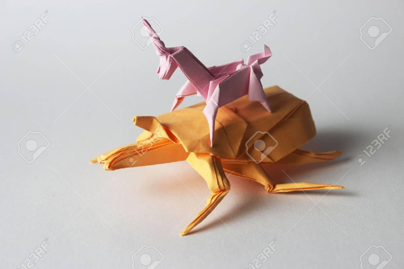Origami Unicorn Tutorial - Paper Kawaii | 866x1300