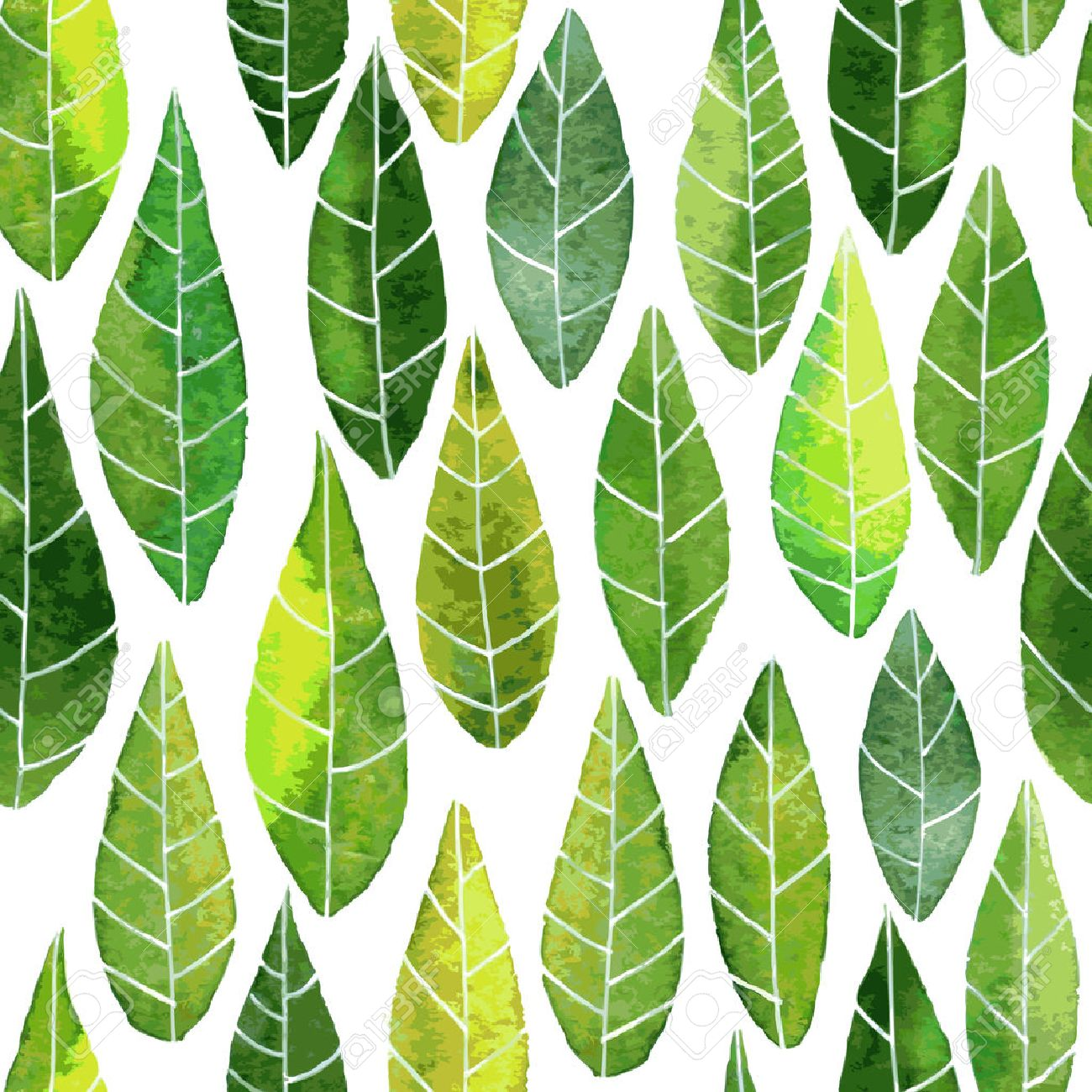 Vector Seamless Pattern With Abstract Green Leaves With Streaks Royalty Free Cliparts Vectors And Stock Illustration Image 38960264