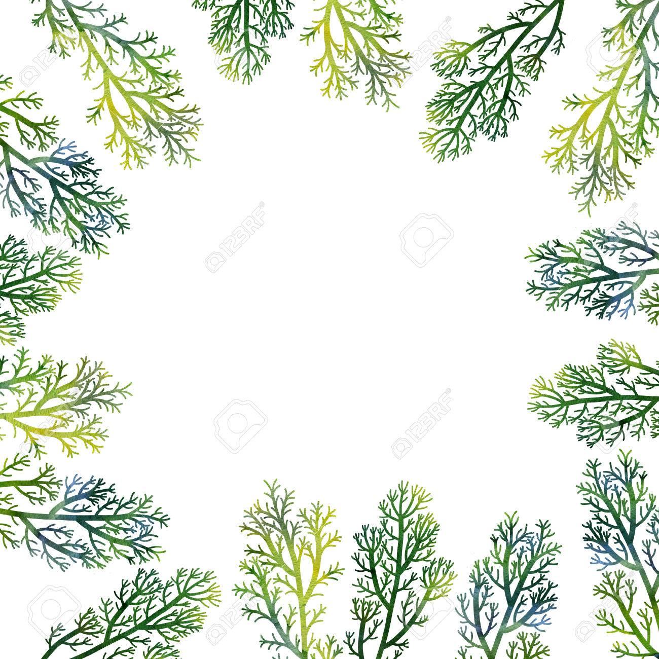 Silueta Composicion Floral Con Plantas Silvestres Dibujo En Acuarela