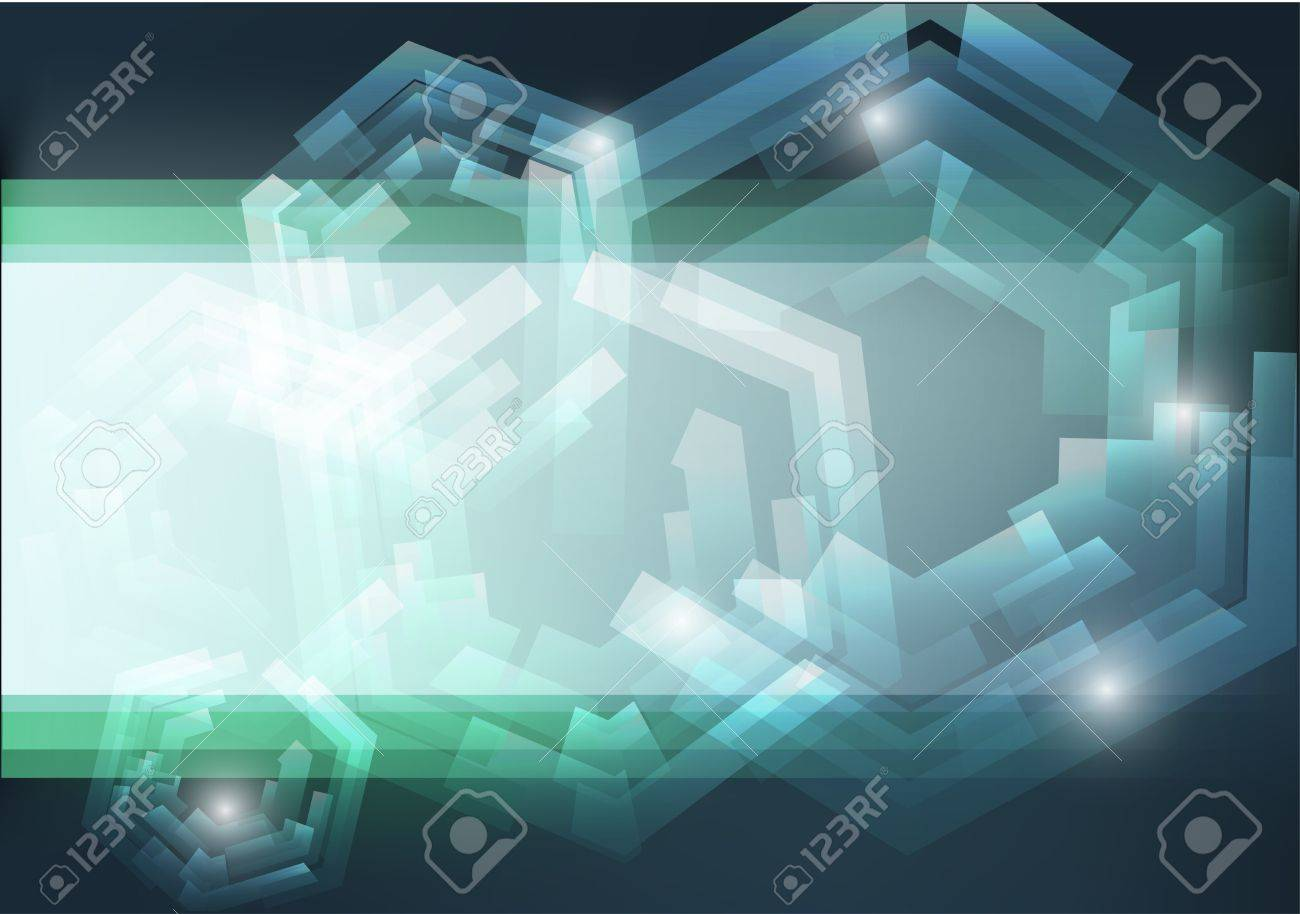 Mechanical abstract background EPS10 vector illustration on dark green background - 12851952