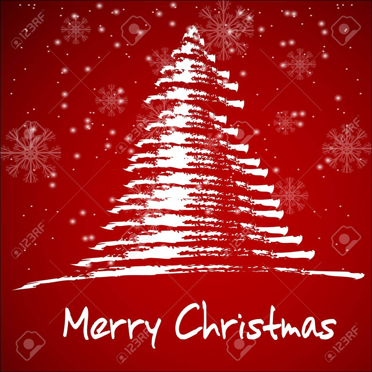 Christmas background with stylized christmas tree EPS10 - 15936696