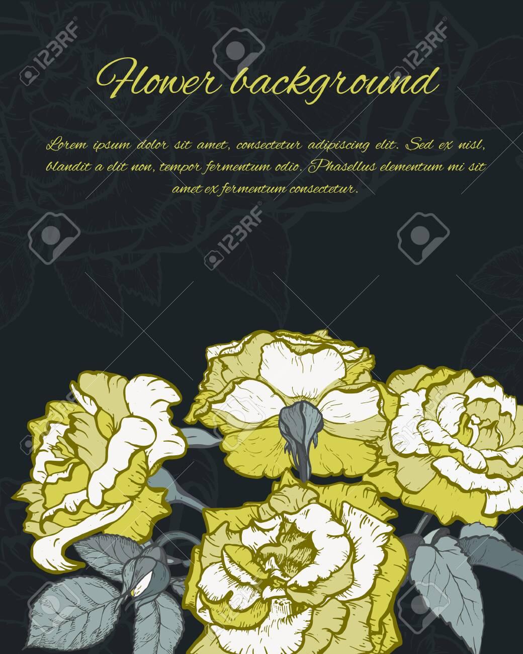 Rose hand drawn illustration - 128393967