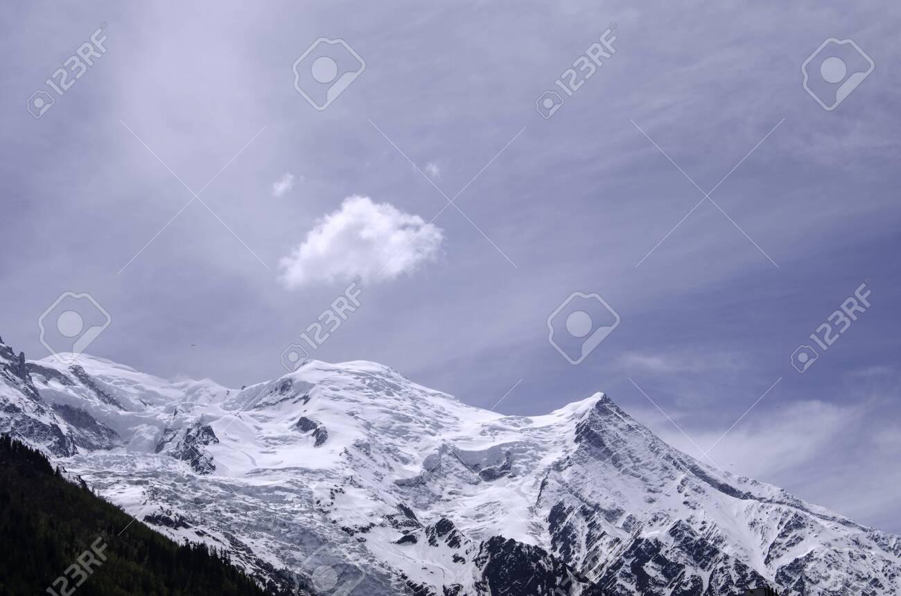 Air view. Chamonix. Mont Blanc. Mountain. - 128254338