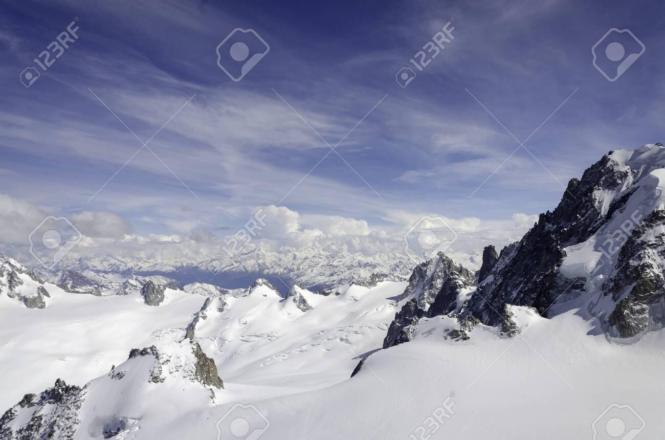 Air view. Chamonix. Mont Blanc. Mountain. - 128254339
