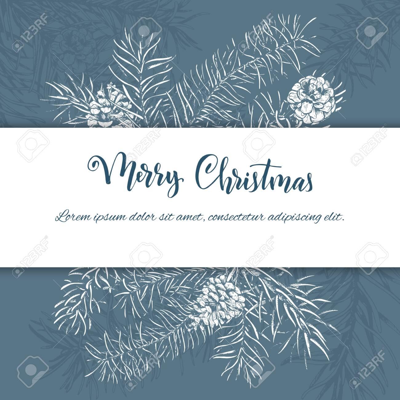 Christmas sketch hand drawn illustration - 131653455