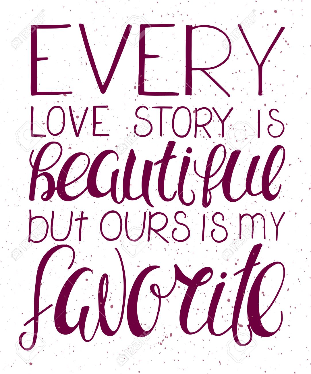 Vector Illustration Of Hand Lettering Inspiring Quote Every