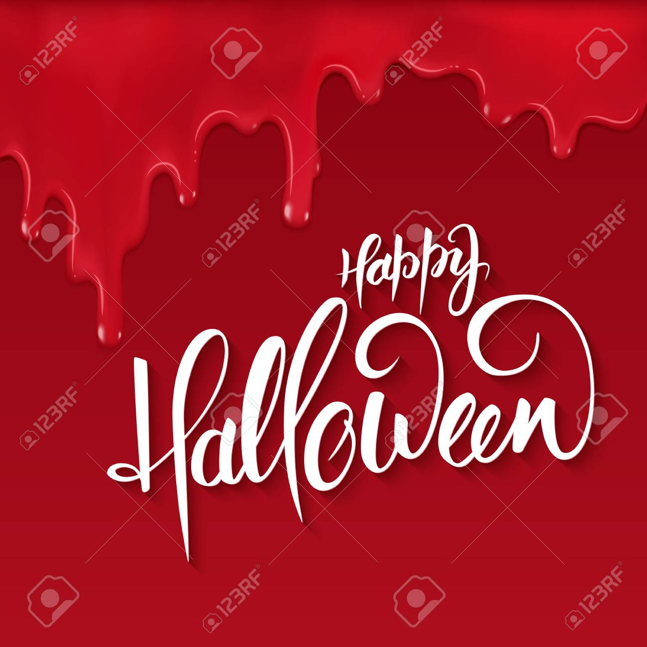 Halloween lettering greetings label happy halloween on red halloween lettering greetings label happy halloween on red bloody drips stock vector m4hsunfo