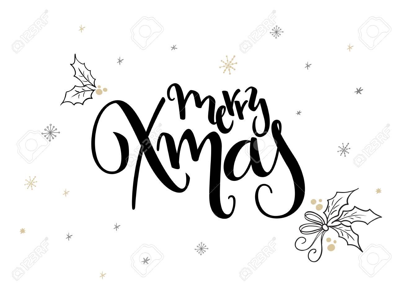 Hand Schriftzug Weihnachten Grüße Text - Frohe Weihnachten - Mit ...
