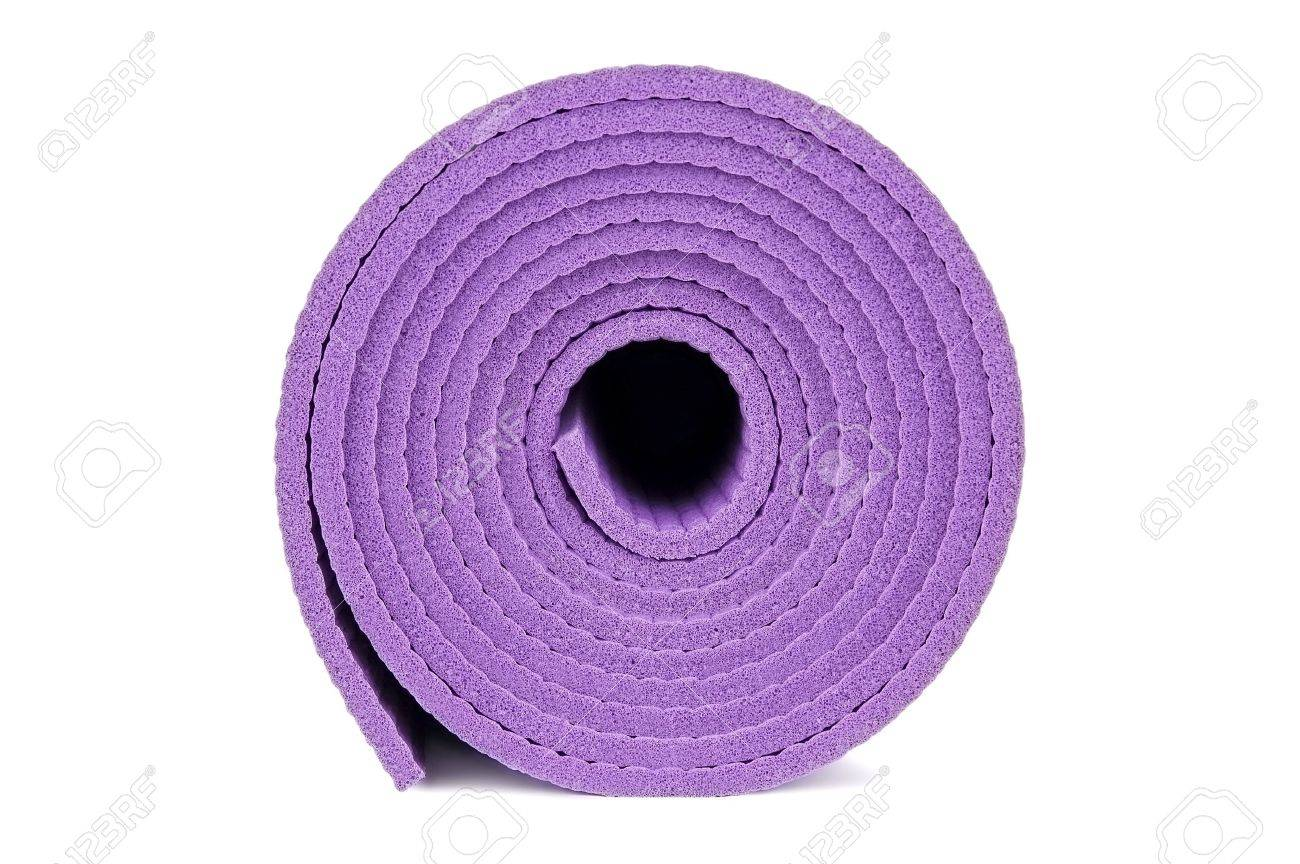 Rolled Up Yoga Mat Isolated On White Stock Photo Picture And Royalty Free Image Image 17972243