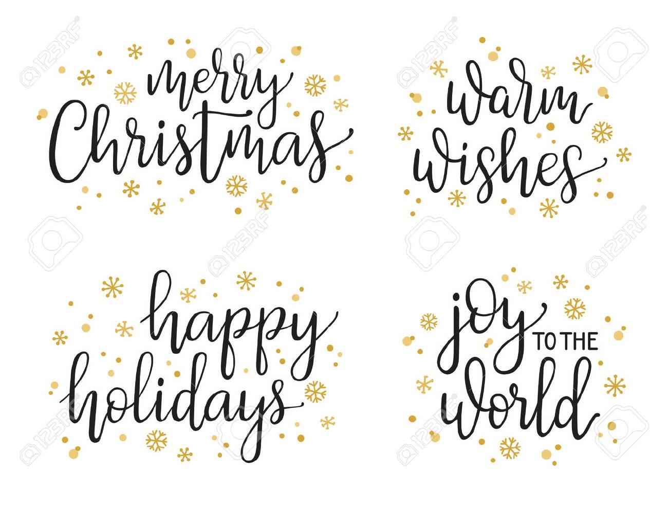 Moderne Weihnachtsgrüße Für Karten.Stock Photo