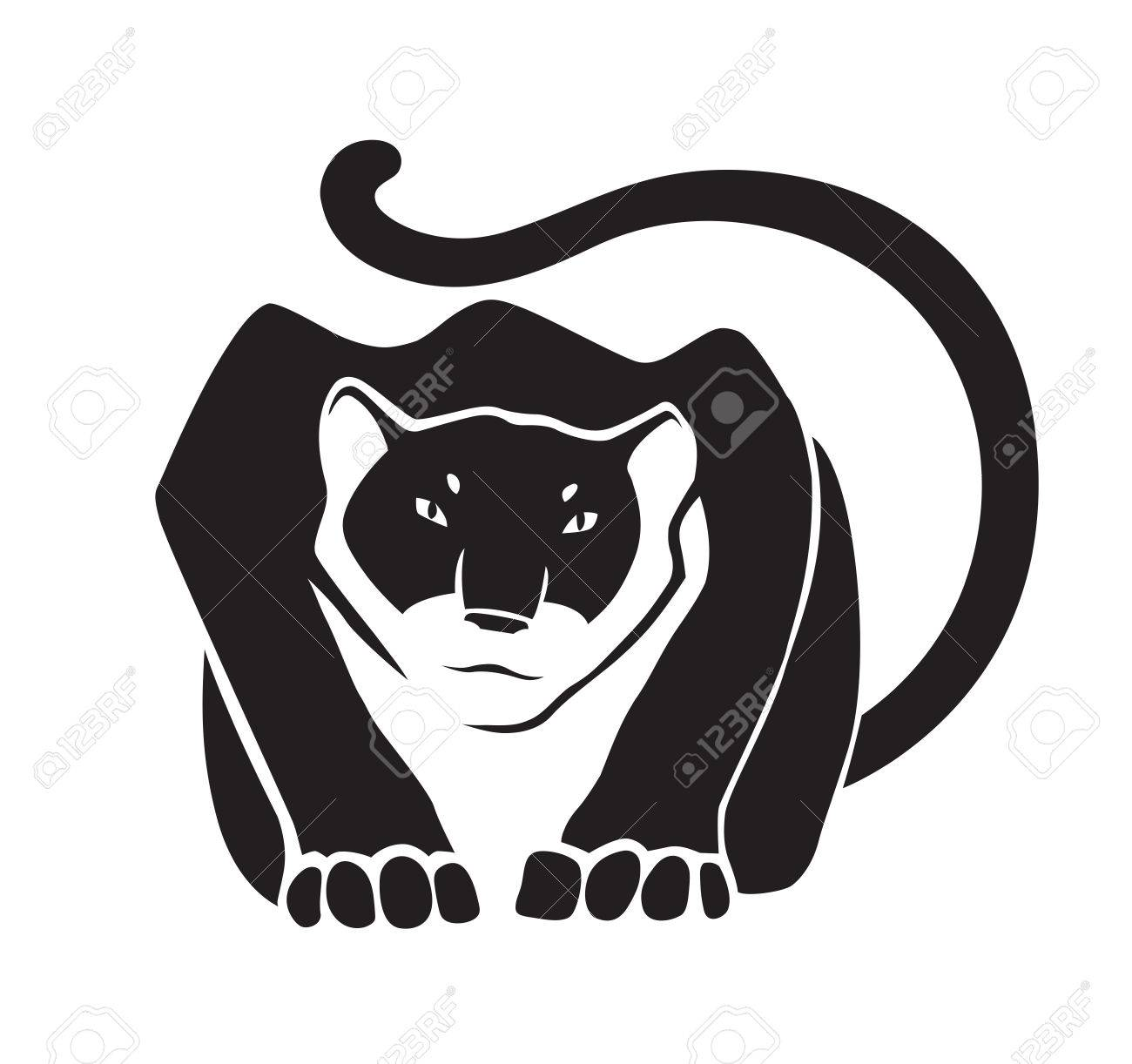 Black Panther On White Background Wild Animal As Logo Or Mascot Royalty Free Cliparts Vectors And Stock Illustration Image 70036366