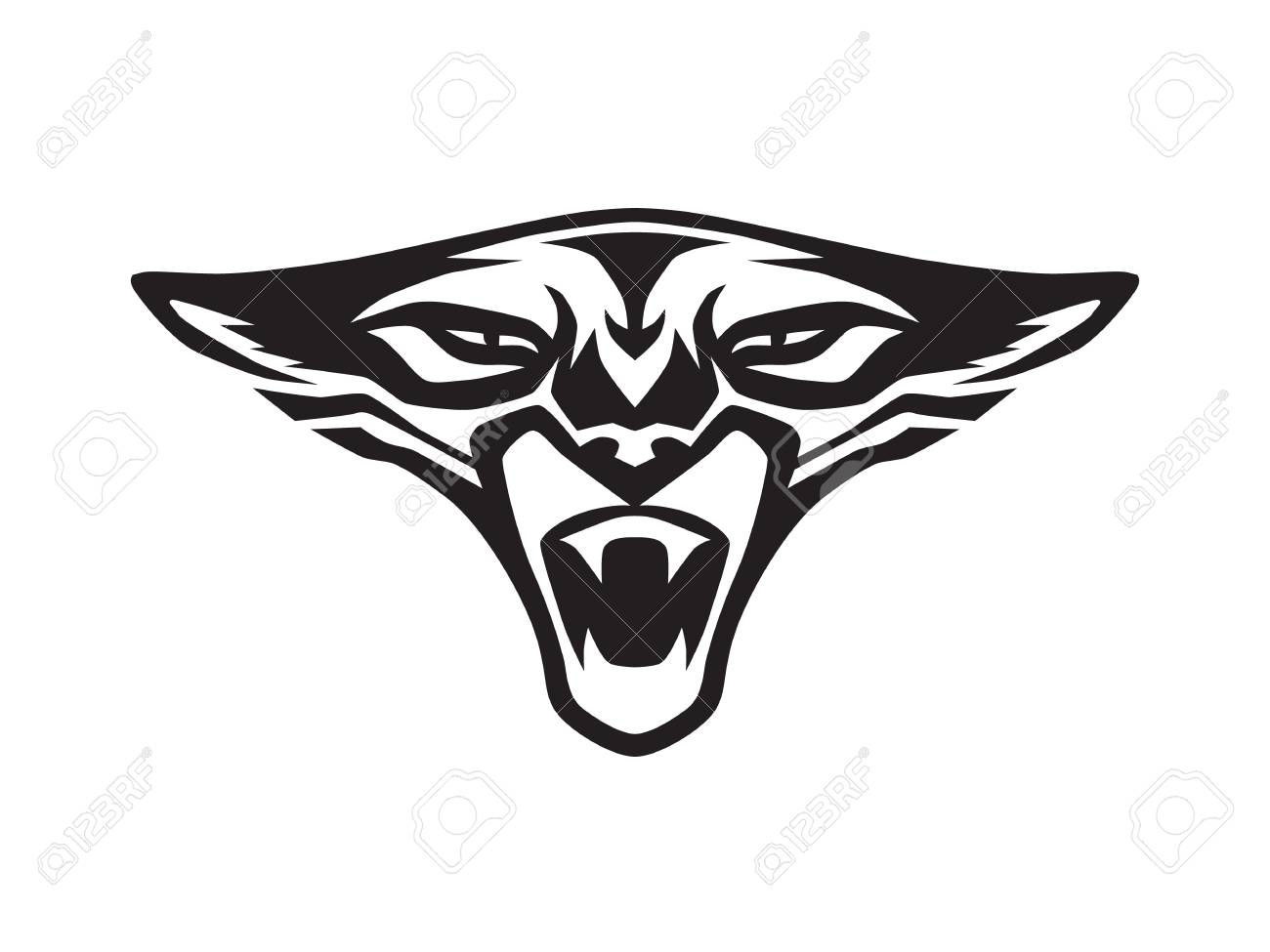 Black Panther Face Roaring On White Background Wild Aggressive Royalty Free Cliparts Vectors And Stock Illustration Image 107857323
