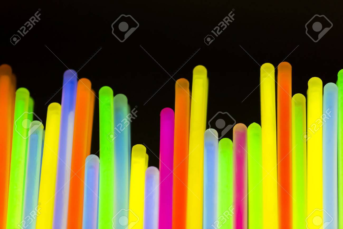 Colorful fluorescent light neon on blanck background - 53741416