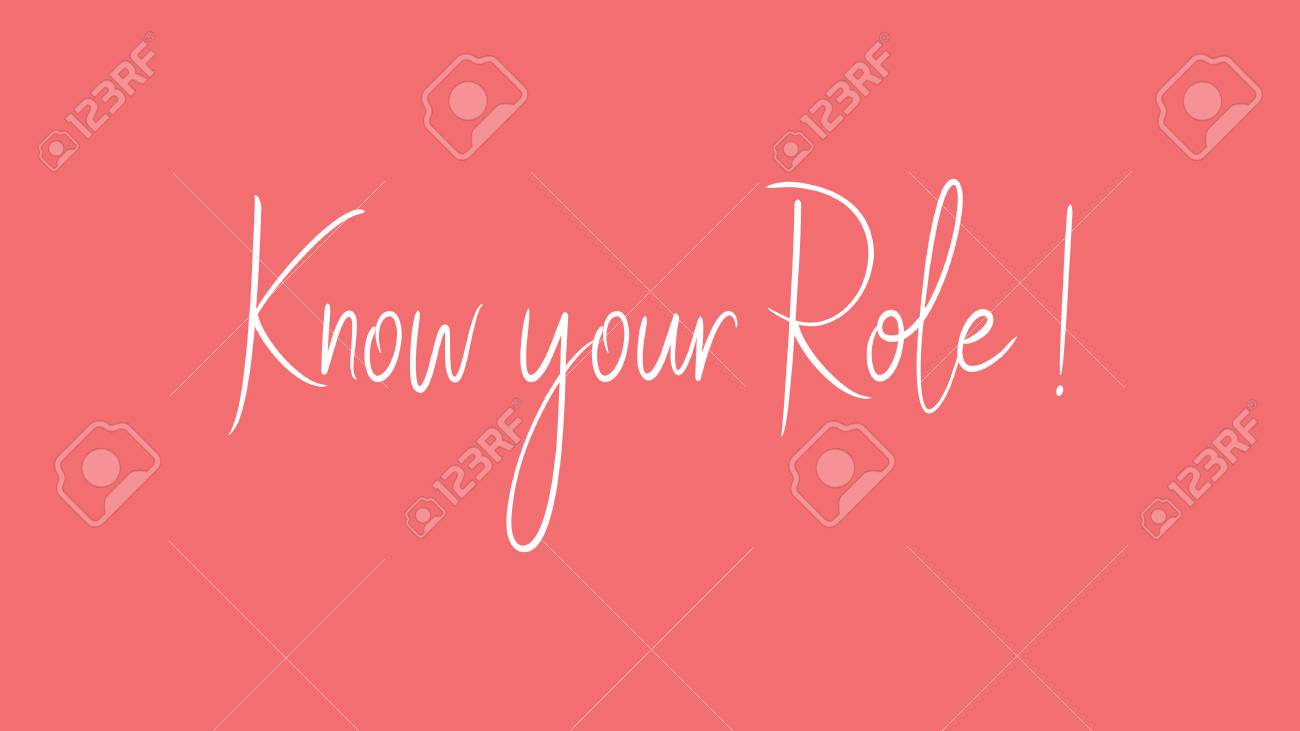 Know Your Role Calligraphy Signature Font Girly Pinky Background
