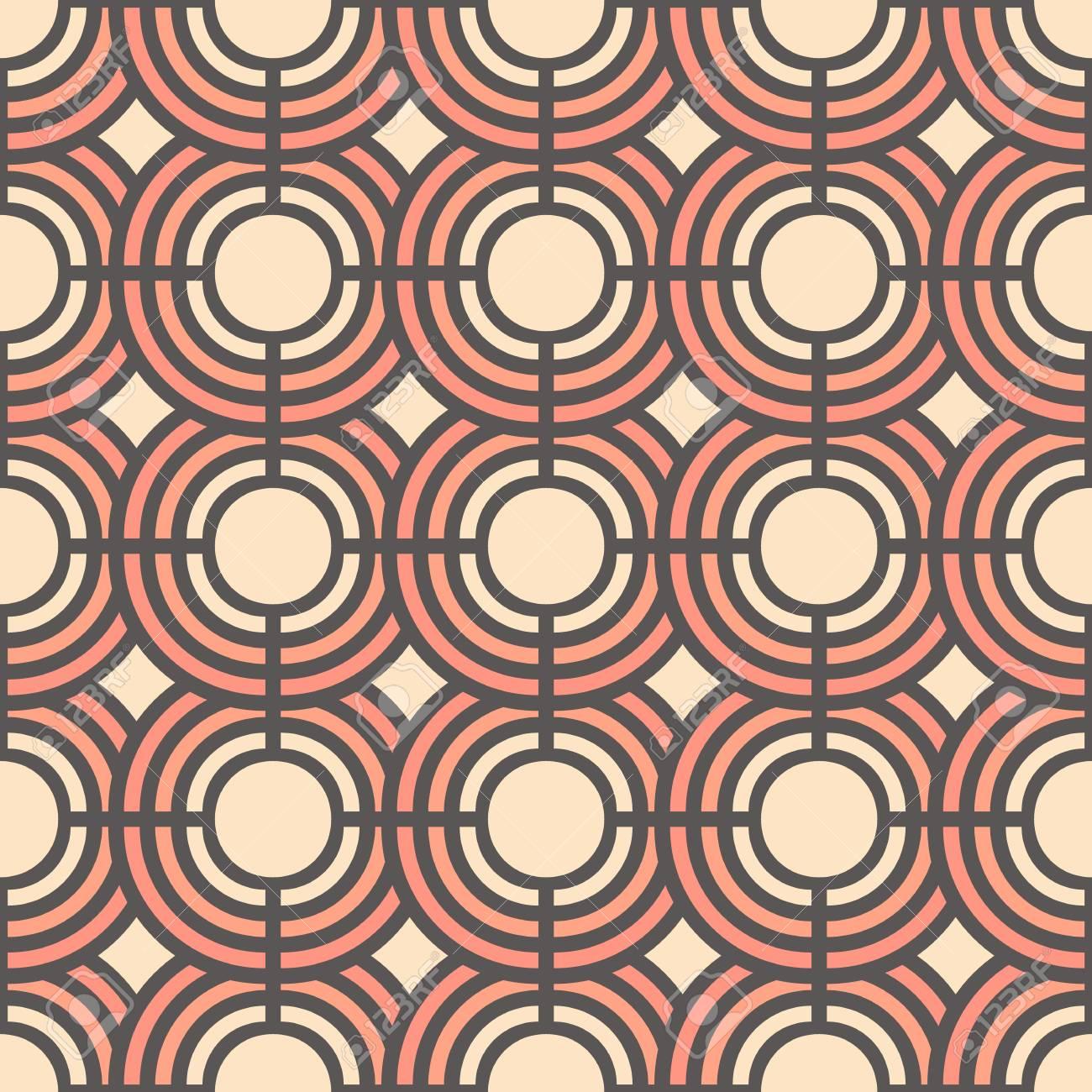 Patrón Transparente Suave Con Círculos Geométricos Abstractos Ilustracion Vectorial Fondo Para El Vestido Fabricación Fondos De Pantalla