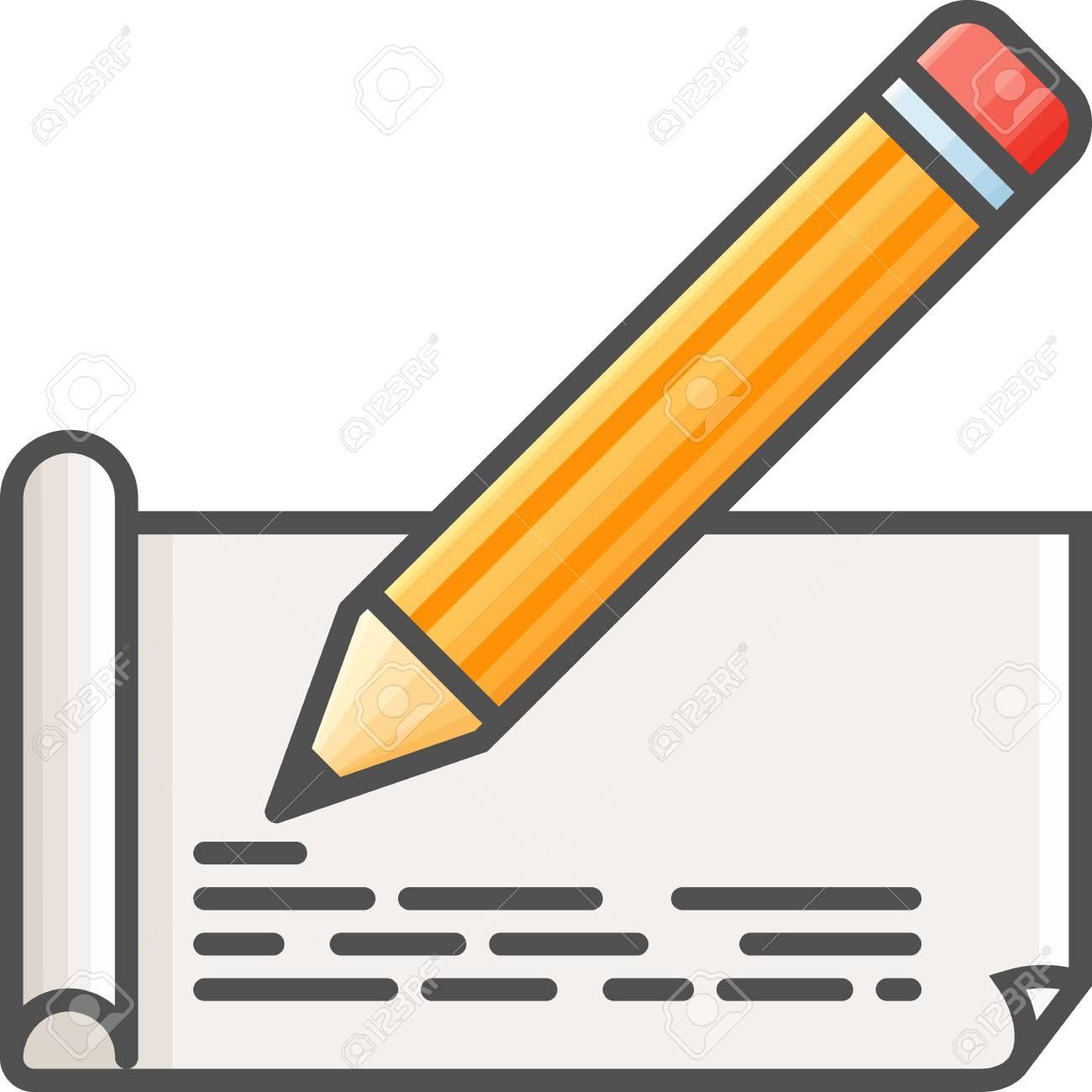 Art Simple Et Passe Temps Vector Icon Plat Papier à Dessin Au Crayon Icône De Style Plat 48x48 Pixel Parfait