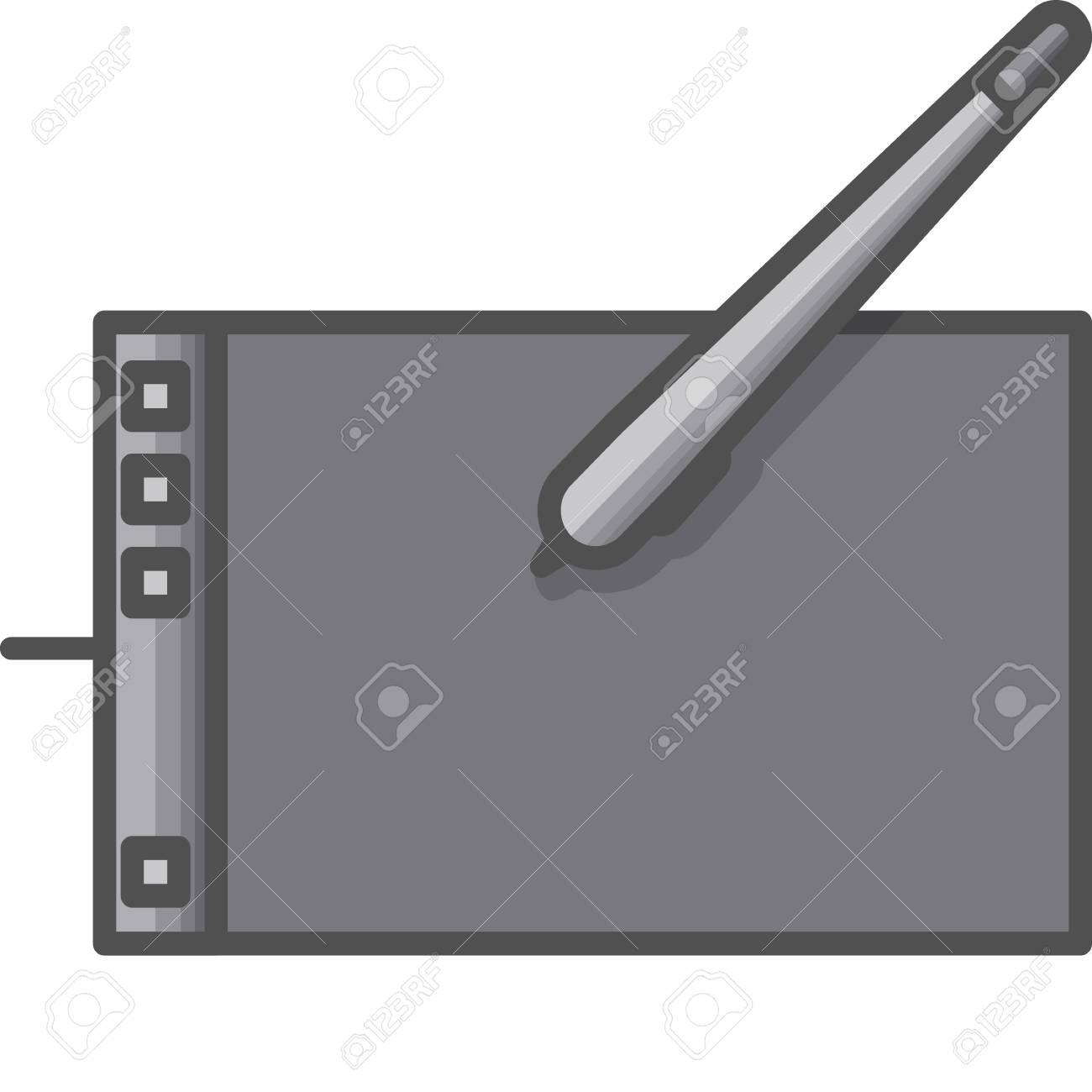 Simple Art And Hobby Vector Flat Icon Graphic Tablet For Digital