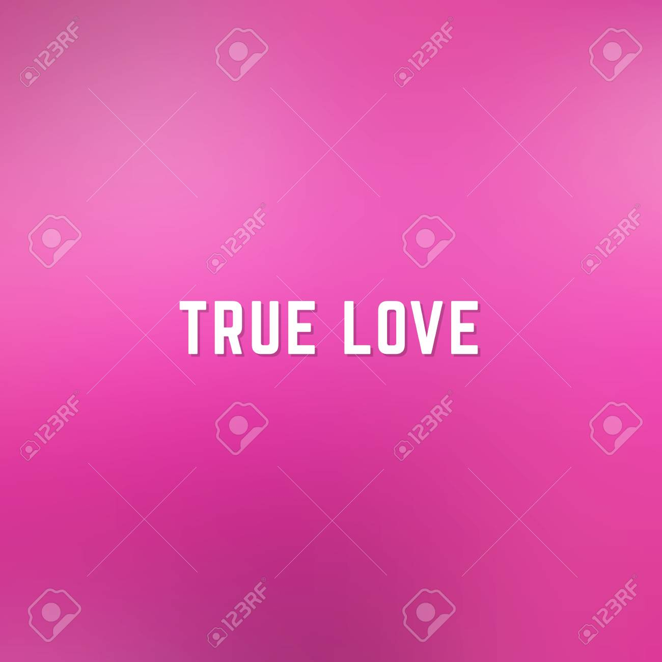 fe6c2434e301 Square blurred spring background in light and dark pink colors with phrase  true love Stock Vector