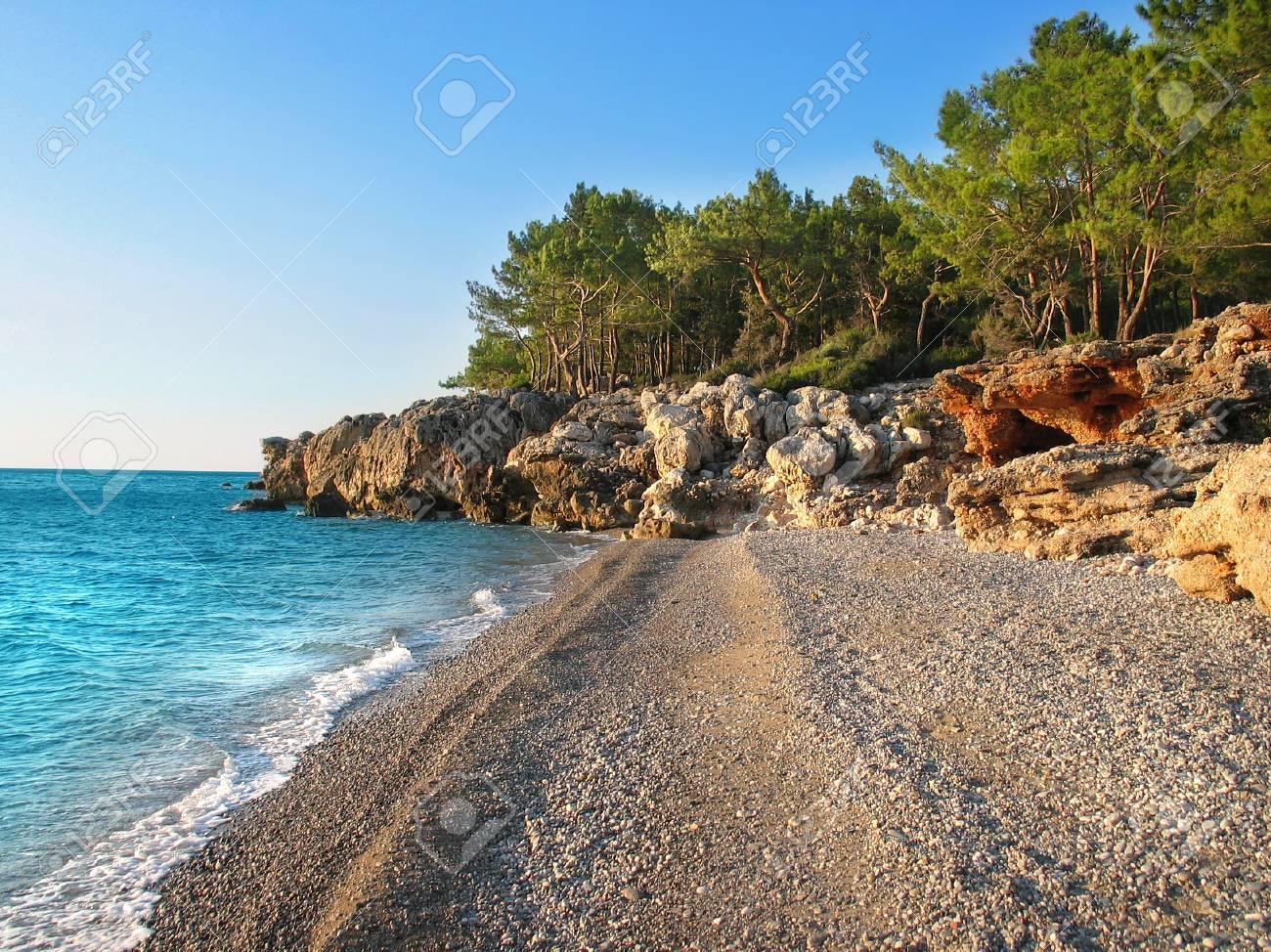 Wild beach Near Antalya Stock Photo - 1423646