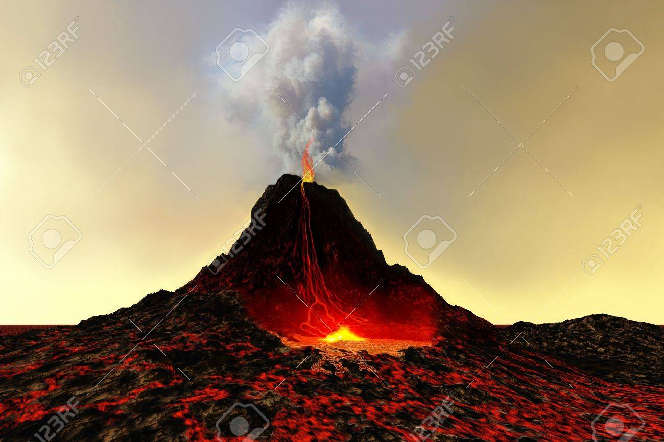 Eruption effusive ou explosive?  dans 4EMES 6987139-ACTIVE-VOLCANO-An-active-volcano-spews-out-hot-red-lava-and-smoke--Stock-Photo