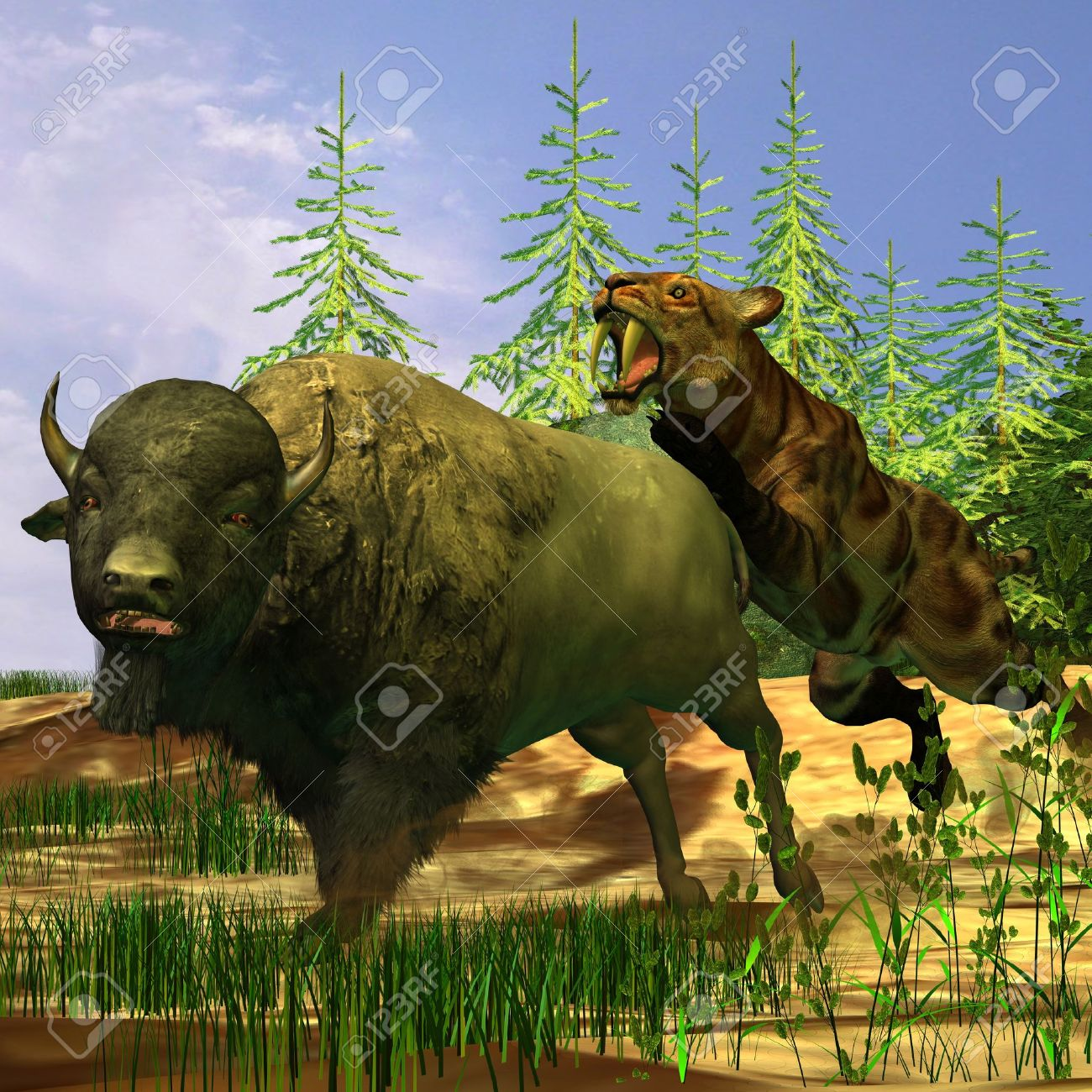 saber tooth tiger stock photos u0026 pictures royalty free saber