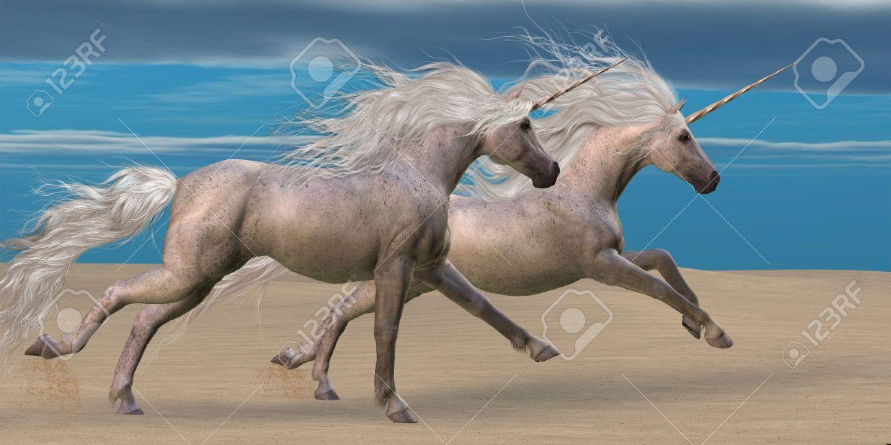 16984085-unicorns-two-white-unicorn-hors