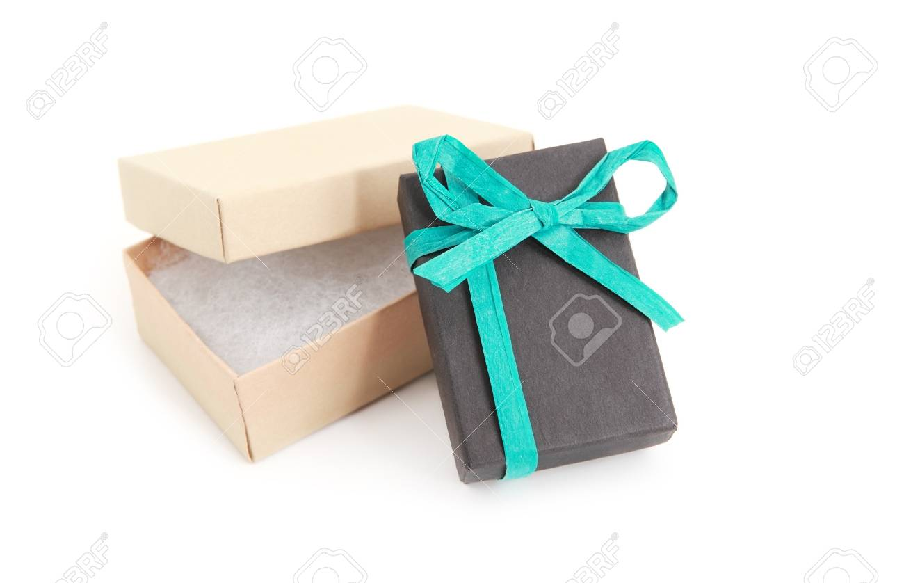 open and closed gift boxes over white background Stock Photo - 18980273