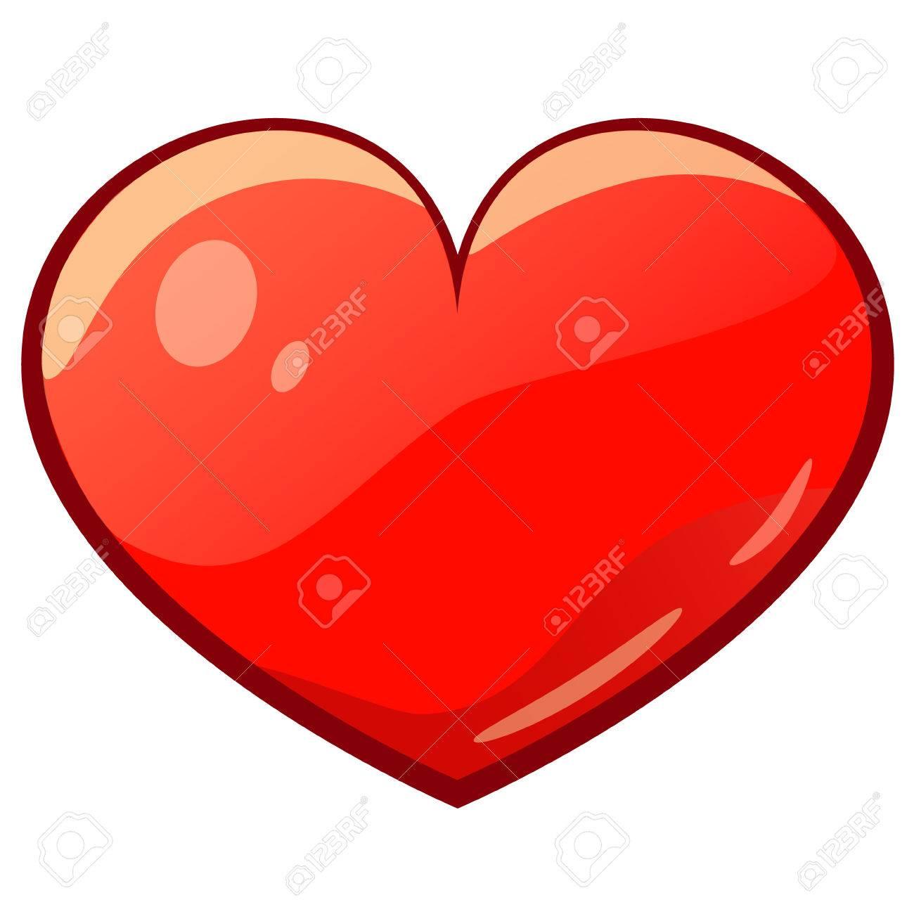 Coeur Dessin valentine isolé coeur de dessin animé clip art libres de droits