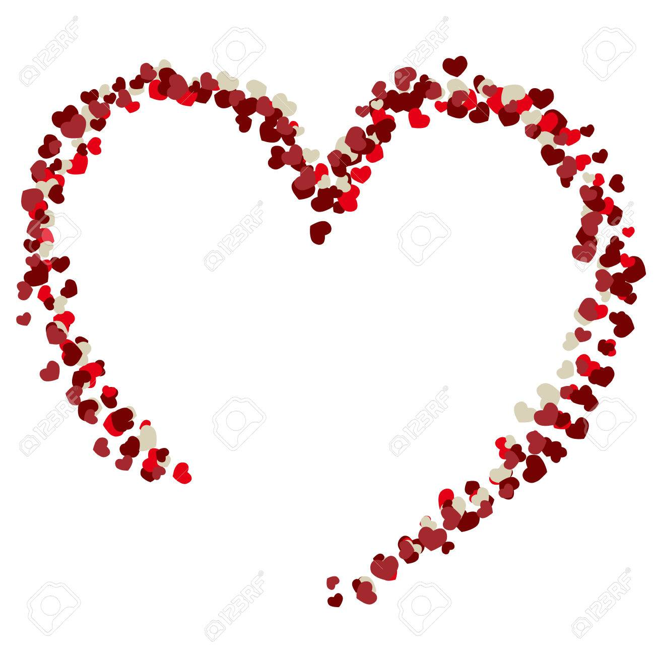 Color De Dibujo Día De San Valentín Del Corazón Ilustraciones ...