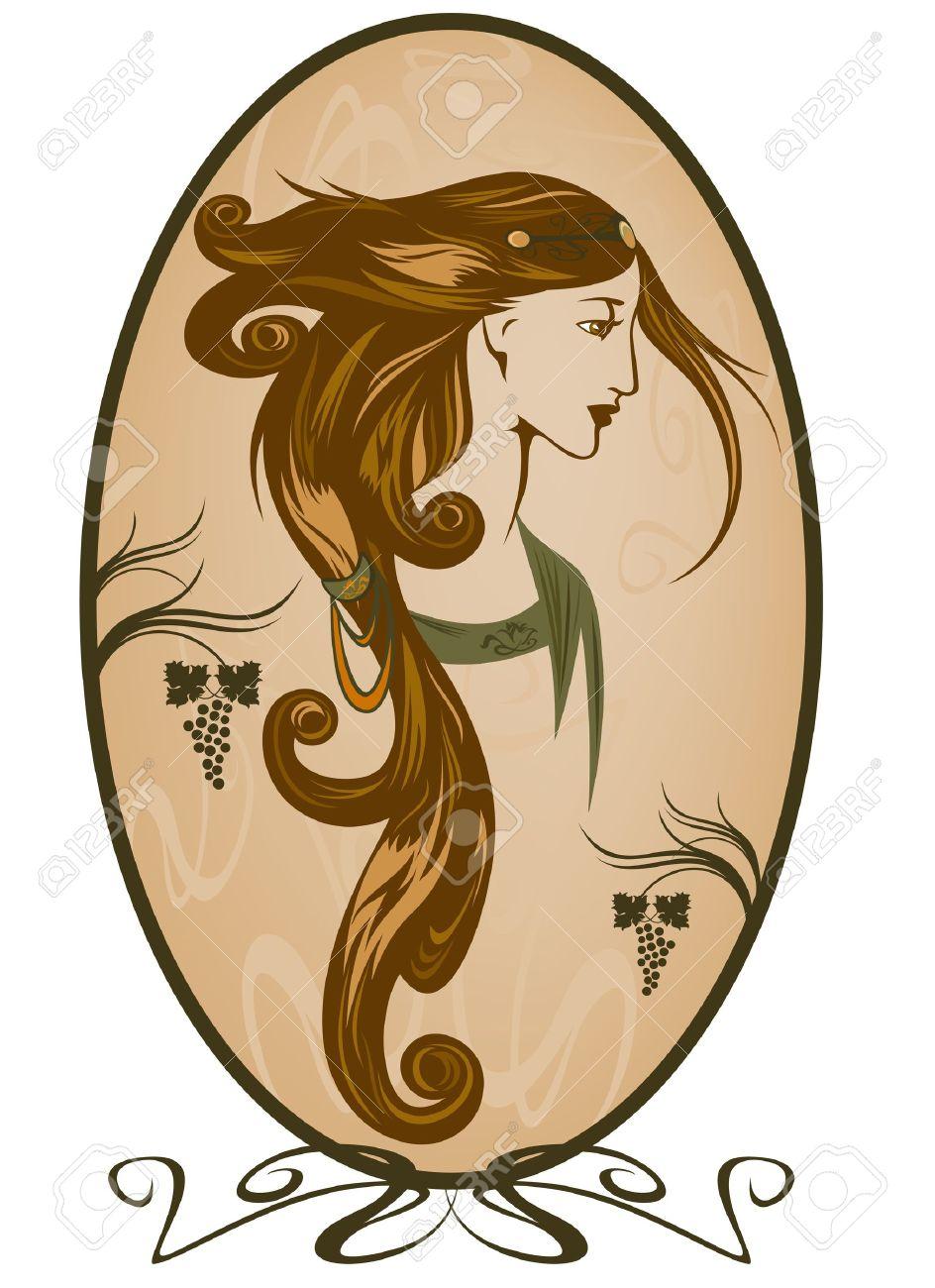 Art Nouveau style woman portrait Stock Vector - 10239001