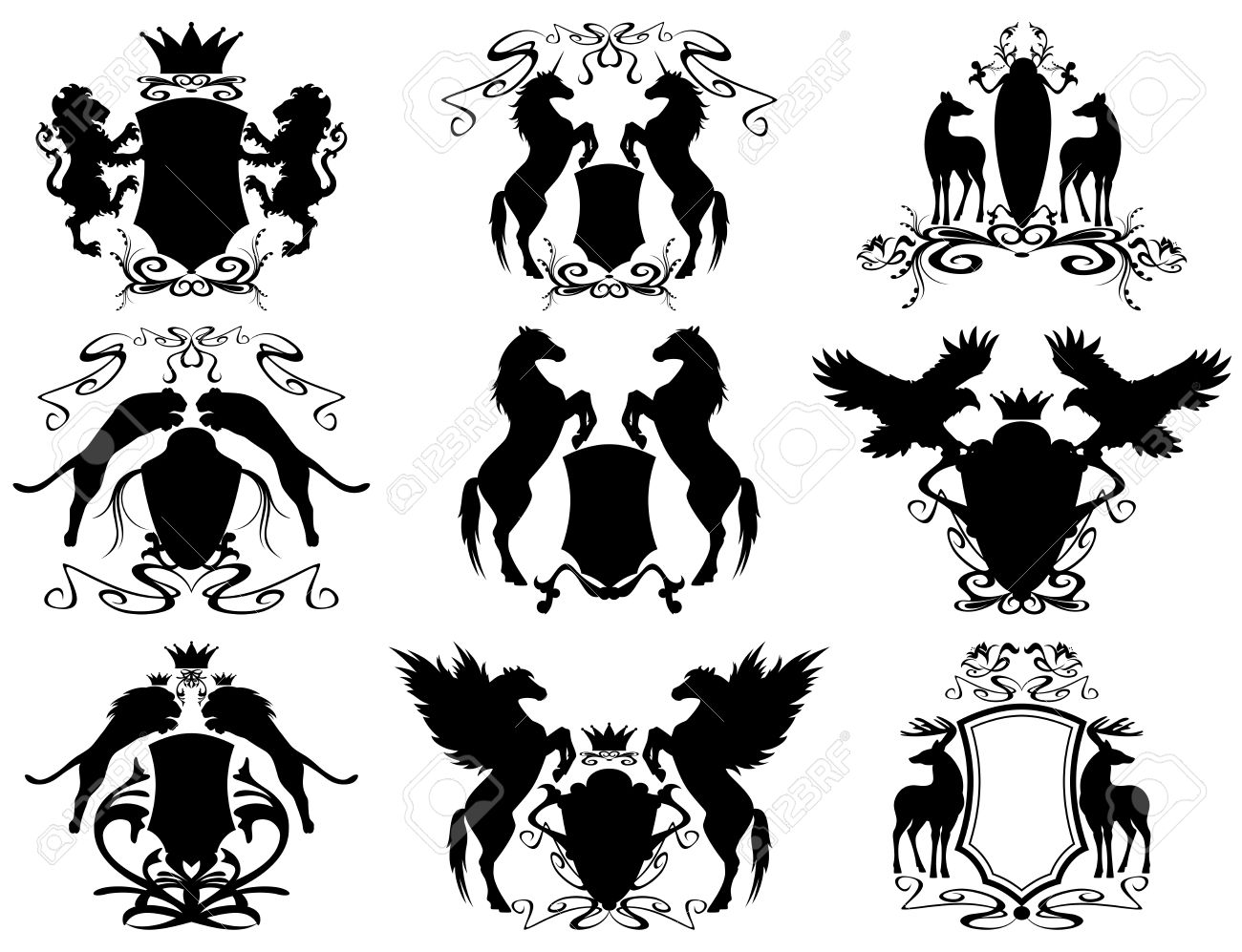38,548 Heraldry Cliparts, Stock Vector And Royalty Free Heraldry ...